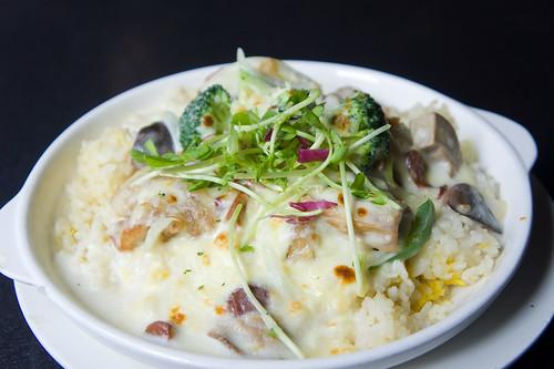 Pさまside的則是芝士白汁焗西蘭花野菌雞皇飯
