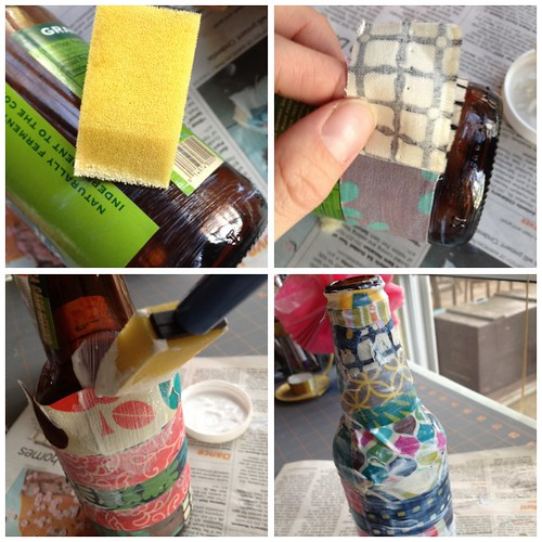 Quick Craft: Scrap Fabric Vase