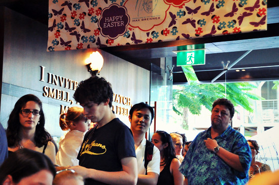 Max Brenner Chocolate Bar Southbank: Queueing
