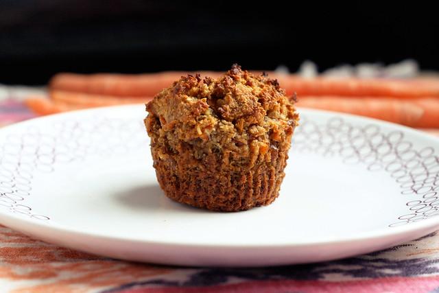 Gluten-Free + Vegan Carrot Cake Muffins