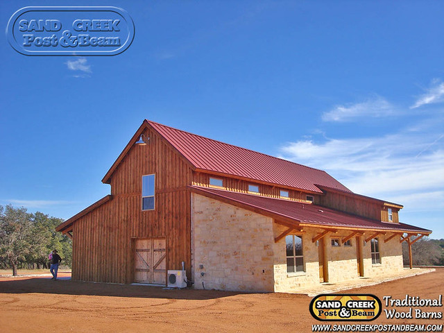 Western Barn In Tx Sand Creek Post Beam Traditional