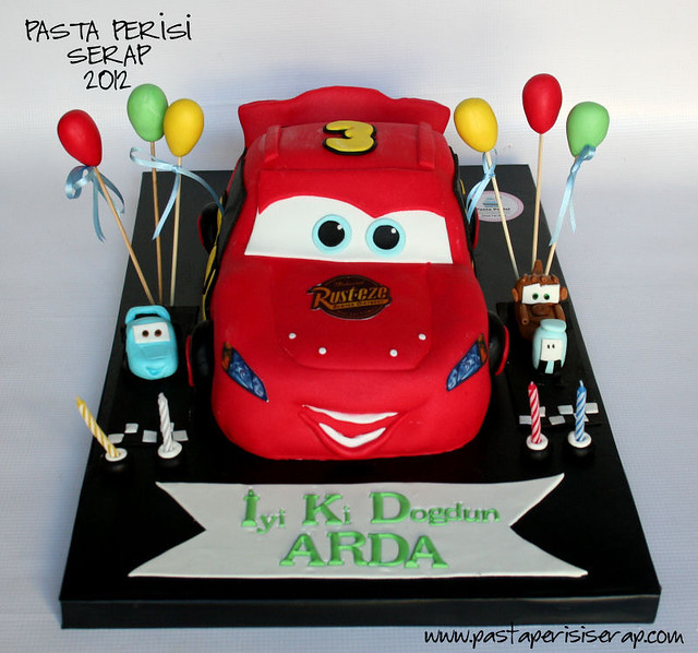CARS 2 BIRTHDAY CAKE -ARDA