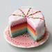 Miniature Food - Pastel Rainbow Cake by PetitPlat - Stephanie Kilgast