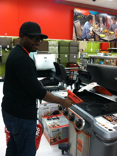 Sean registering for a grill?