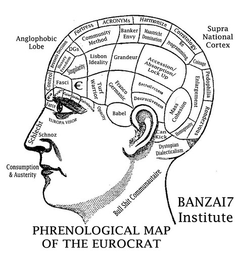 PHRENOLOGICAL MIND OF THE EUROCRAT by Colonel Flick