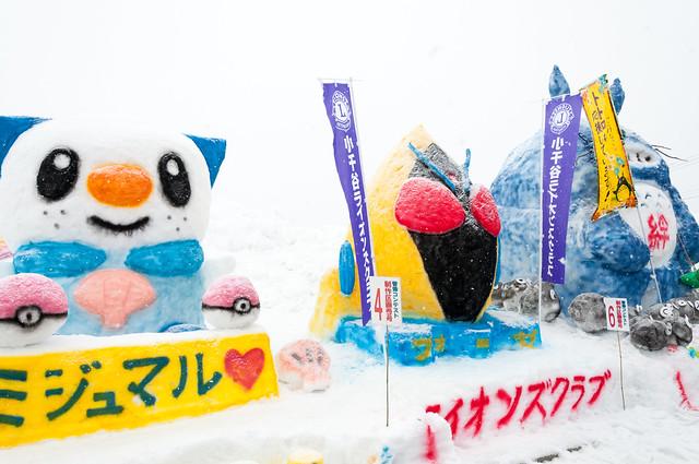 おぢや風船一揆 雪像コンテスト