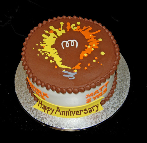 Broken Bulb Studios Employee Anniversary Cake