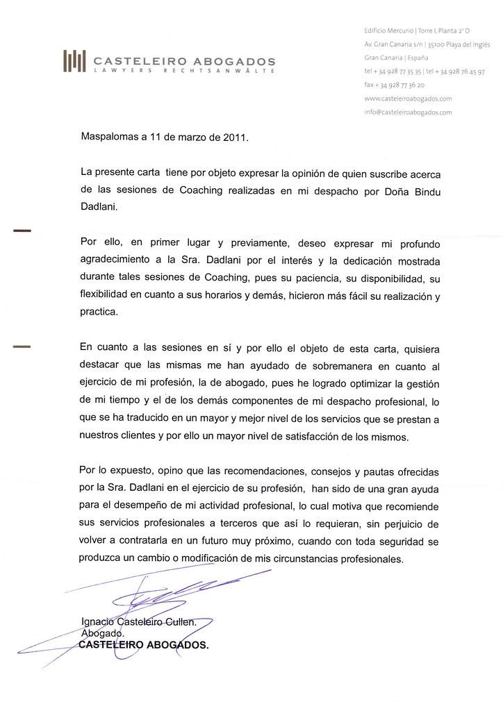 Carta De Recomendacion Personal En Ingles