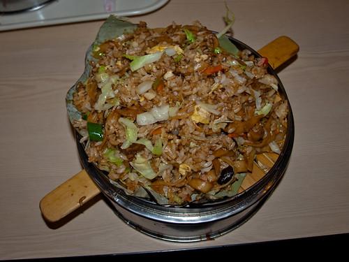 Comida china - arroz fideos y verduras