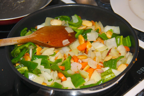 Chinese Almond Chicken Vegetables