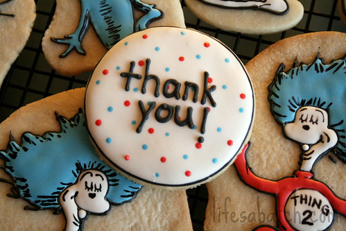 Dr. Seuss Thank-You Cookie.