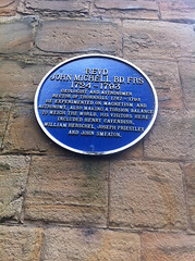 Photo of John Michell, Henry Cavendish, and John Smeaton blue plaque