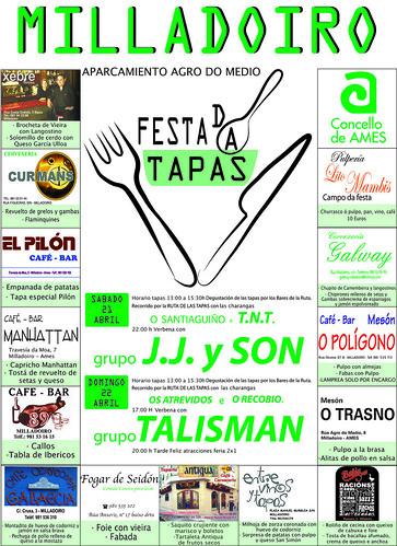 Ames 2012 - Festa das Tapas no Milladoiro - cartel