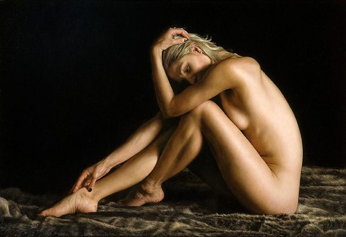 "'Personal Space' oil on board 19"" x 27½"""