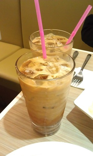 Delicious iced milk tea
