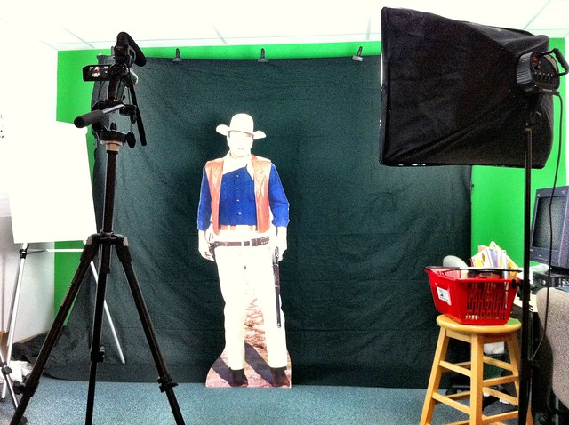 Shooting video with John Wayne