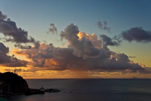 ocean sunrise caribbean stmaarten