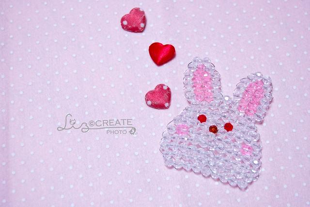 愛心。珠珠兔