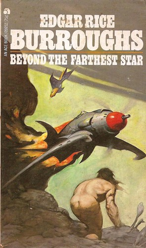 Beyond the Farthest Star by Edgar Rice Burroughs. Cover art Frank Frazetta