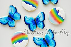 Blue Butterflies and TUTORIAL