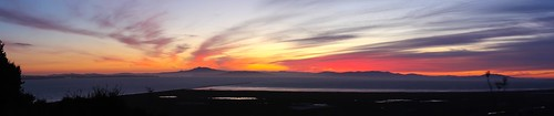 sunset sky panorama reflection water beautiful northerncalifornia clouds canon landscape photography bay photo photographer image pano picture surface photograph sanfranciscobayarea bayarea norcal solano strait mounttam confluence northbay mareisland sanpablobay solanocounty 60d canoneos60d