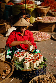 Strawberry seller