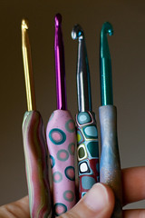 Polymer Clay Crochet Hook Handles