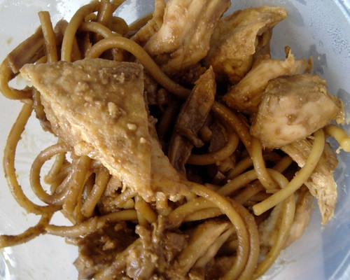 peanut noodles with tofu & chicken