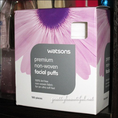 watsons premium non woven facial puffs
