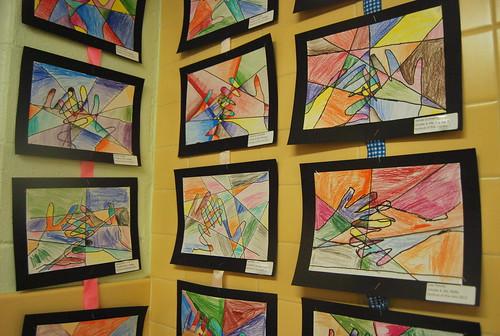 cubist hands art