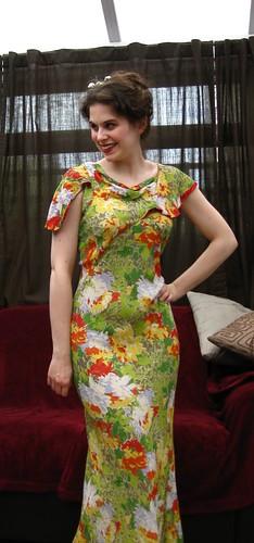 5-1. 30s evening dress