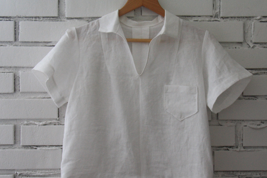sewing saturday - linen blouse diy