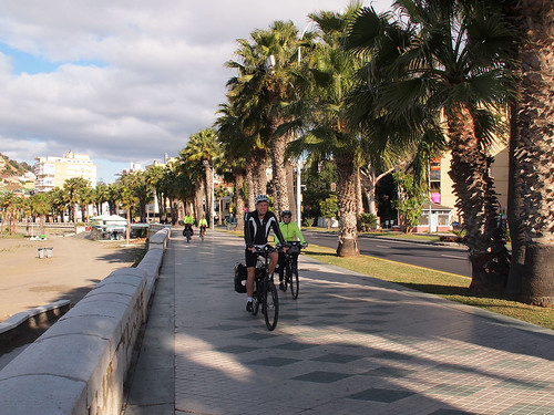 Cycling the prom by Playa de la Caleta