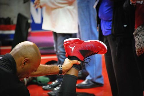 RIP Trayvon Martin on Dwayne Wade's shoe