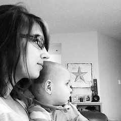 We are watching some Phineas and Ferb :) trying not to over do it since I am just a little over a week postpartum!