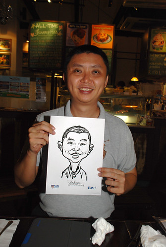 caricature live sketching for emc NUS - 12