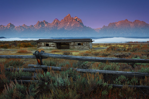 Teton Sunrise At The Cunningham Ranch