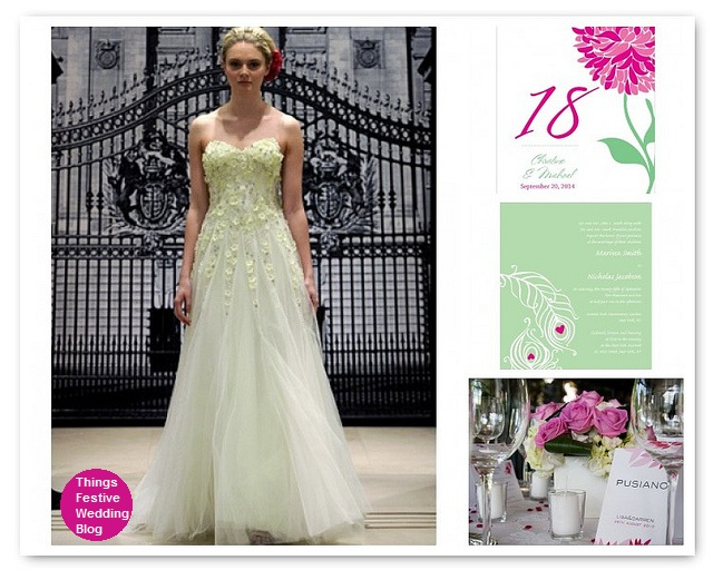 Mint and Fuchsia Wedding Theme Resources