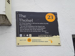 Photo of The Tholsel black plaque