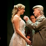 Michael Hammond (Dr. Boyle), Cassie Beck (Rita), Timothy John Smith (Taylor) and MacIntyre Dixon (Old Man) in the Huntington Theatre Company's production of PRELUDE TO A KISS playing at the BU Theatre. Part of the 2009-2010 season. Photo: T. Charles Erickson