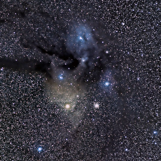 Antares, M4, and the Rho Ophiuchi Nebula