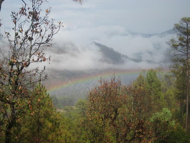 a rainbow near Budar, western Nepal