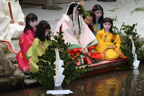 Ceremonial purification for the traditional festival