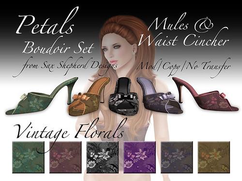 SSD Petals - Boudoir Set - Vintage Floral