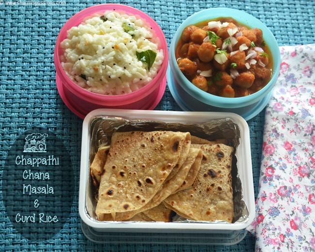 Chapathi, Channa Masala and Curd Rice