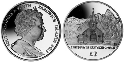 Centenary of Grytviken church coin