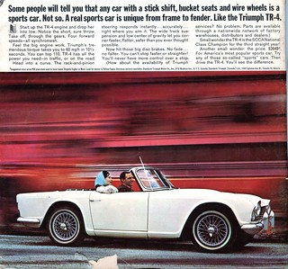 1965 Triumph TR-4 Advertisement Road & Track March 1965