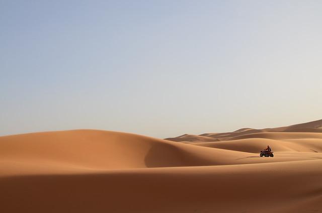 En quad por el desierto de Merzouga