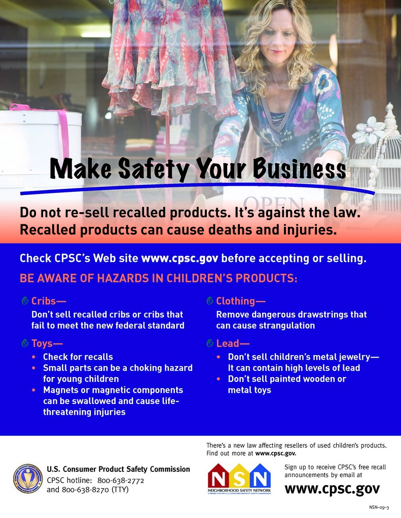 It's against the law to re-sell recalled products