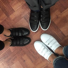 Thank you @kennethcole for our chic uniform sneaks!